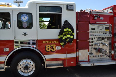 Picture of one of the fire trucks at the event.
