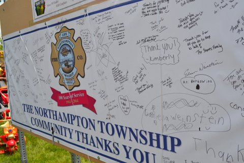 The community took its time to thank the volunteer fire fighters