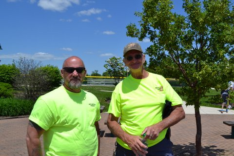 Two of our Public Works Department workers who helped set up the event